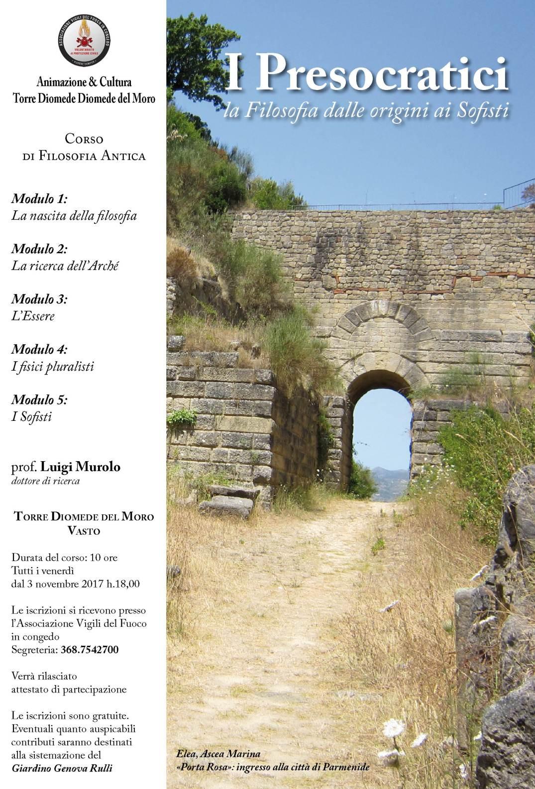 Corso di Filosofia Antica