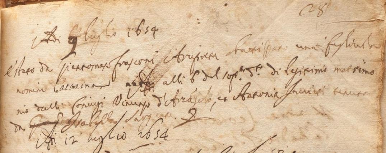 1654 nascita Caterina d'Arcangelo.JPG